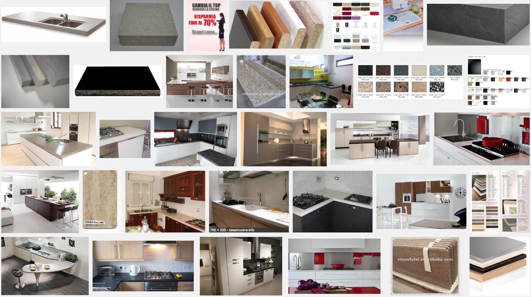 Piano TOP Per CUCINA Banco Lavoro Isola Penisola Tavolo SU MISURA Con  #664035 2100 1175 Piano Di Lavoro Cucina Brico