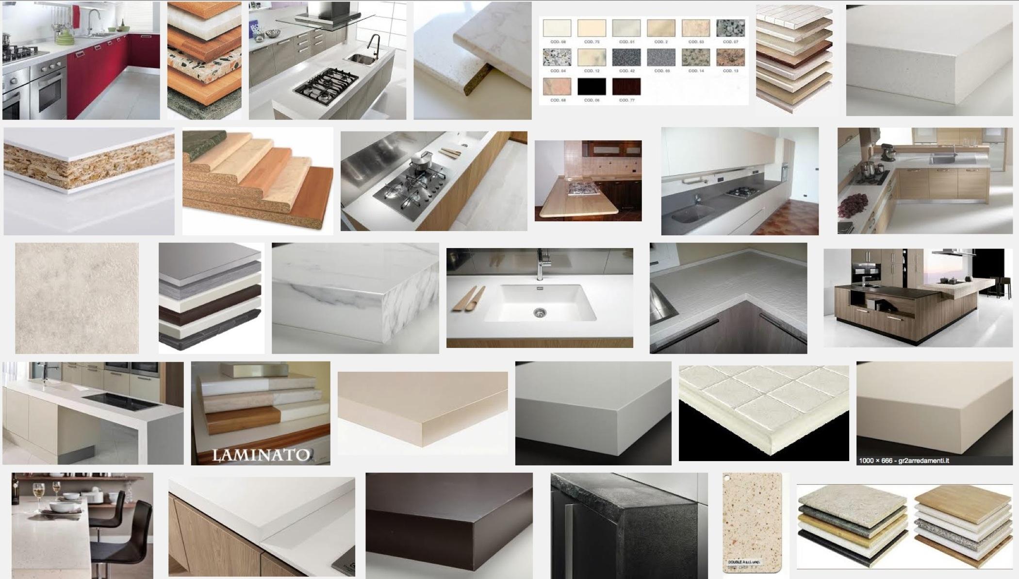 Piano TOP Per CUCINA Banco Lavoro Isola Penisola Tavolo SU MISURA Con  #945937 2100 1193 Piano Di Lavoro Cucina Brico