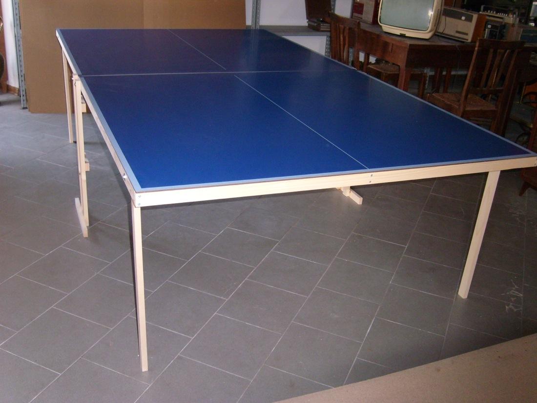 Tavolo ping pong pieghevole misure regolamentari telaio in kit professionale ebay - Misure tavolo da ping pong professionale ...