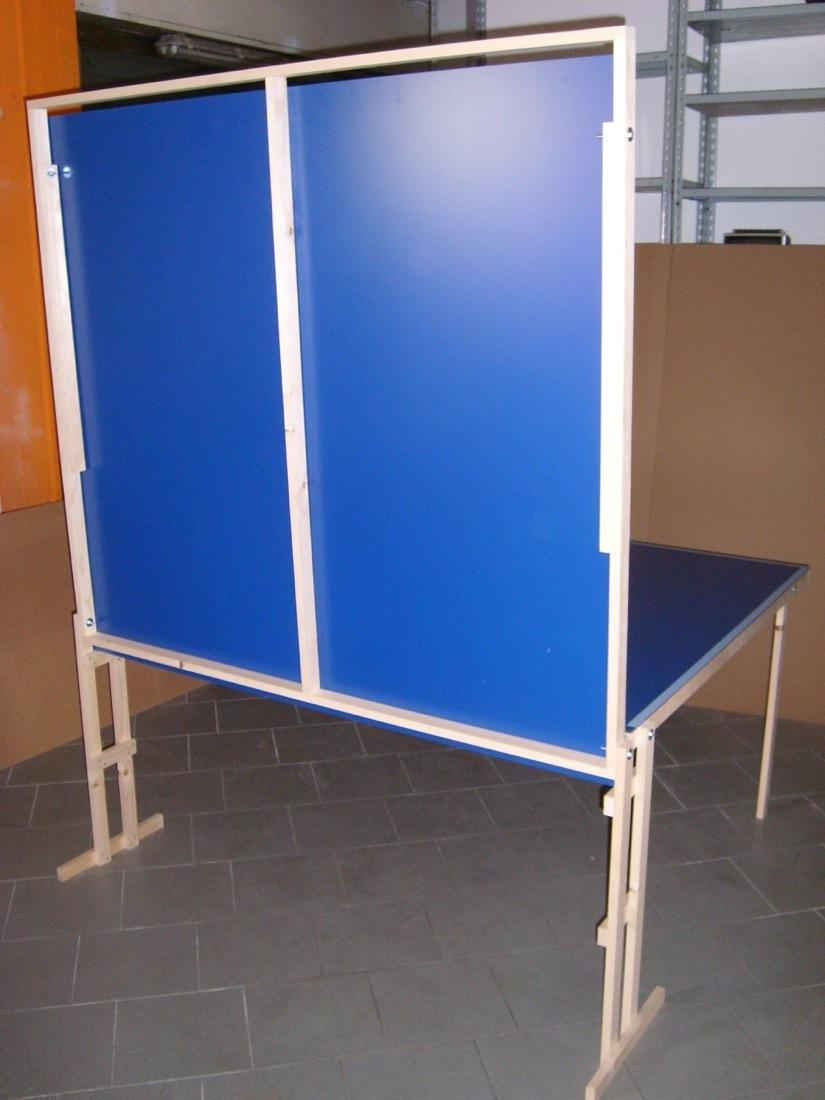 Tavolo ping pong pieghevole misure regolamentari telaio in - Tavolo da ping pong professionale ...