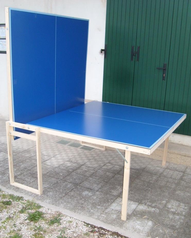 Tavolo ping pong esterno outdoor pieghevole misure regolamentari fai da te ebay - Misure tavolo da ping pong professionale ...