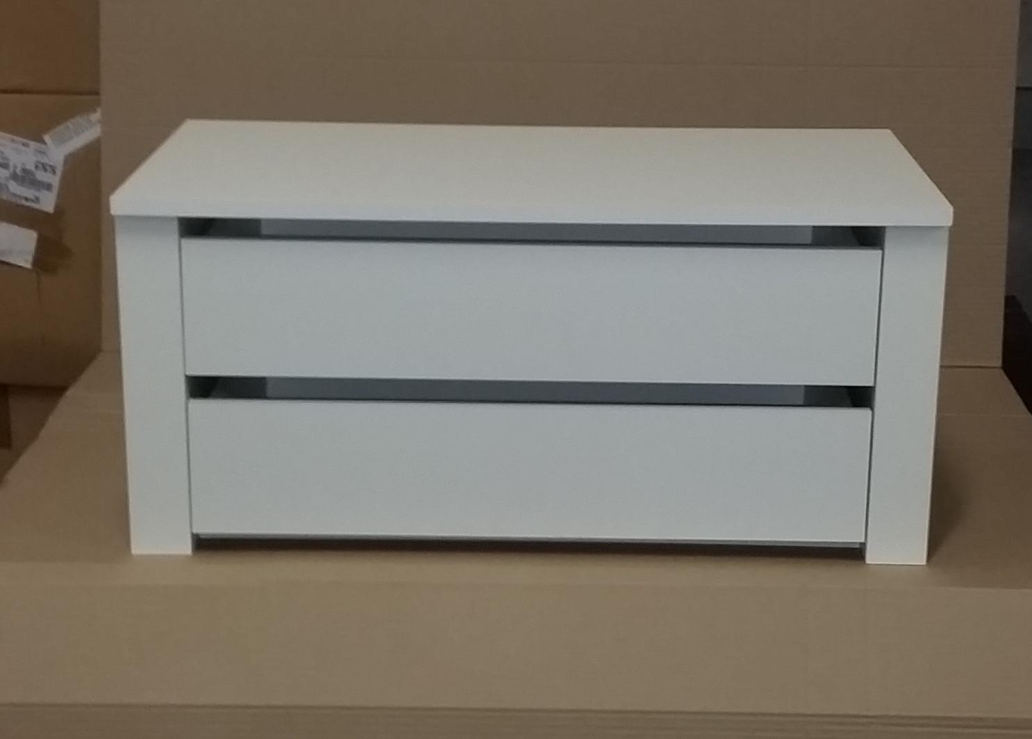 Cassettiera legno 2 ante interno per armadio bianco cm 82 - Cassettiera interno armadio ...