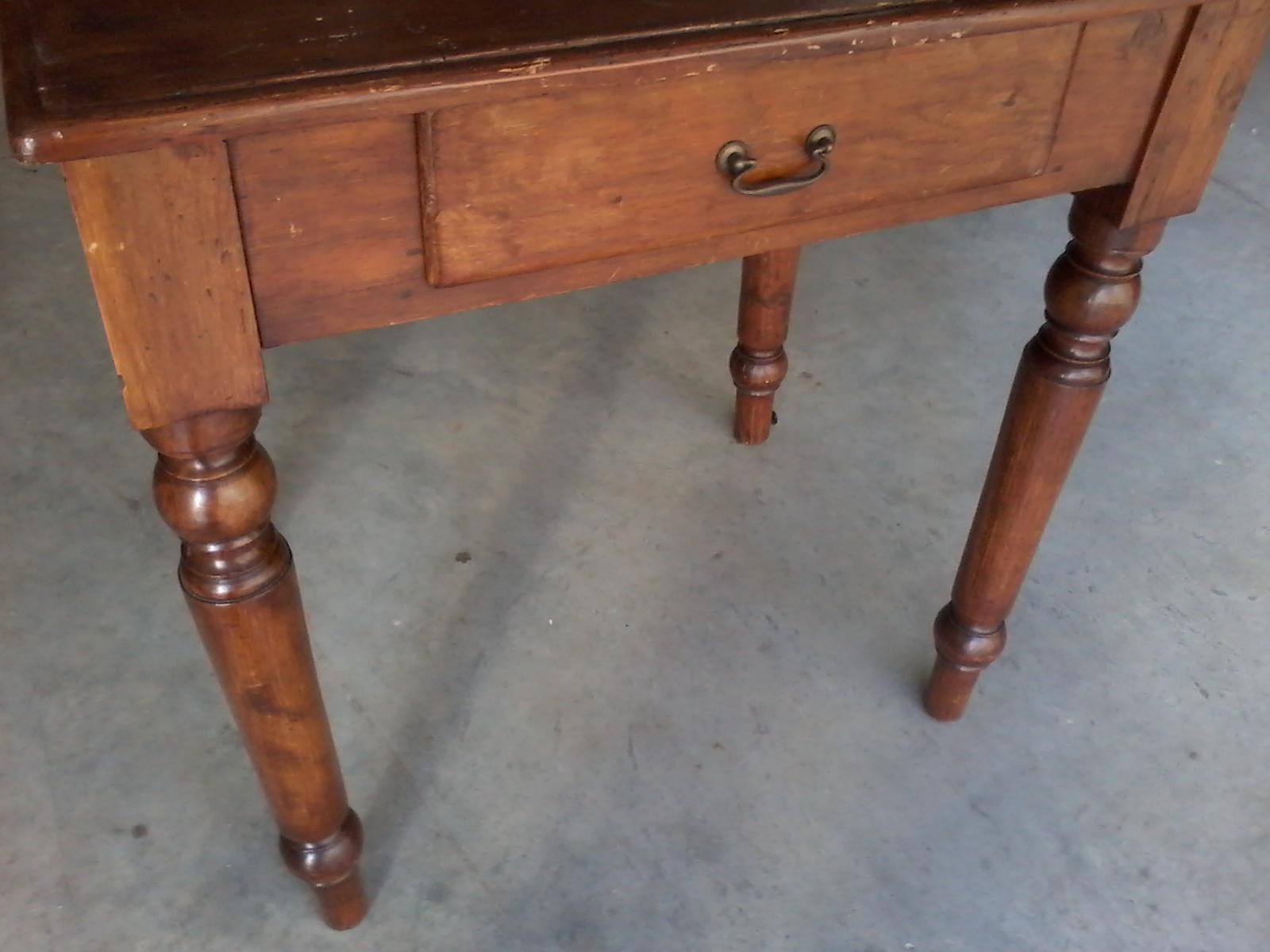 Anu tavolo tavolino piedi torniti antiquariato legno abete anni 40 epoca ebay - Piedi per tavolo in legno ...