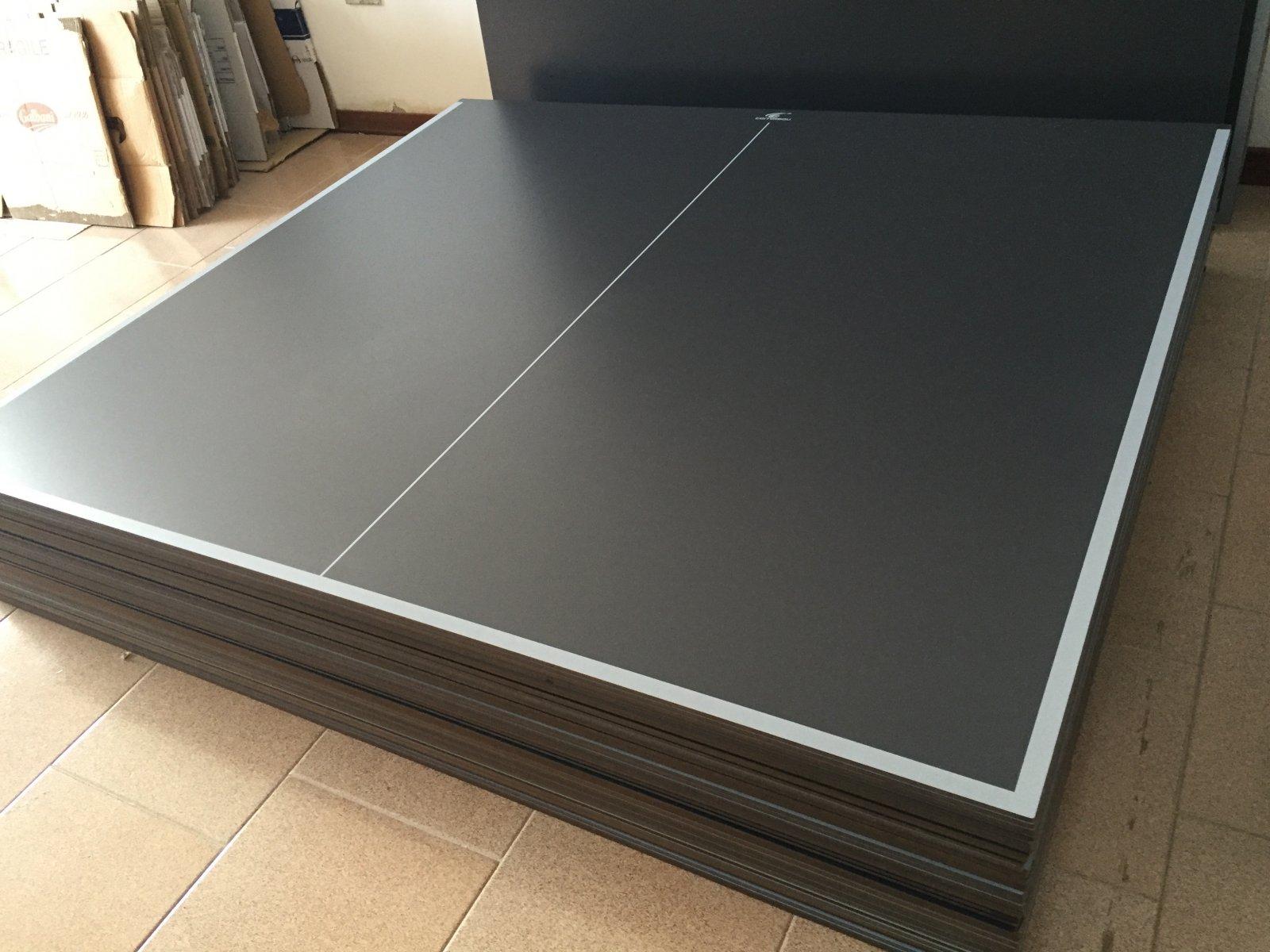 Piani pannelli per tavolo ping pong ping pong grigio regolamentari da esterno ebay - Tavolo ping pong misure regolamentari ...
