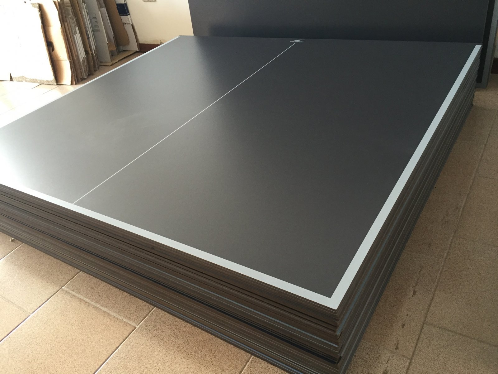 Piani pannelli per tavolo ping pong ping pong grigio - Materiale tavolo ping pong ...